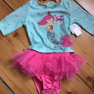 Baby Girls swimsuit and Hat